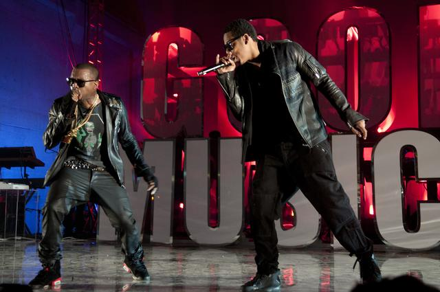 Jay Z and Kanye West at GOOD Music show
