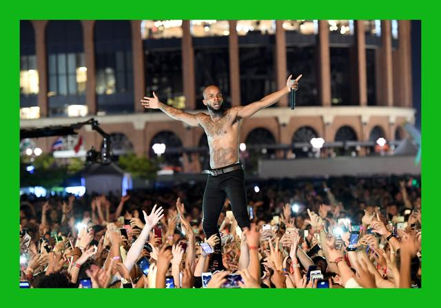 Tory Lanez performing at The Meadows