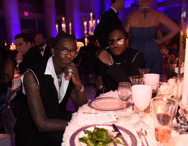 Young Thug and Future at Rihanna's Diamond Ball 2017