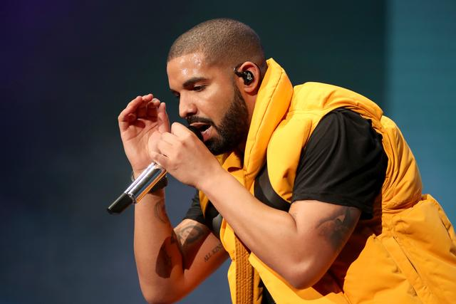 Drake performing at Coachella 2017