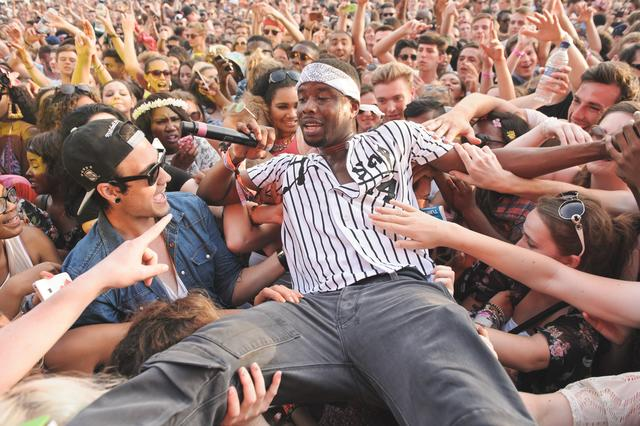 ASAP Twelvyy in the crowd