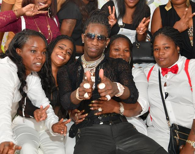 Young Thug at his 25th birthday party