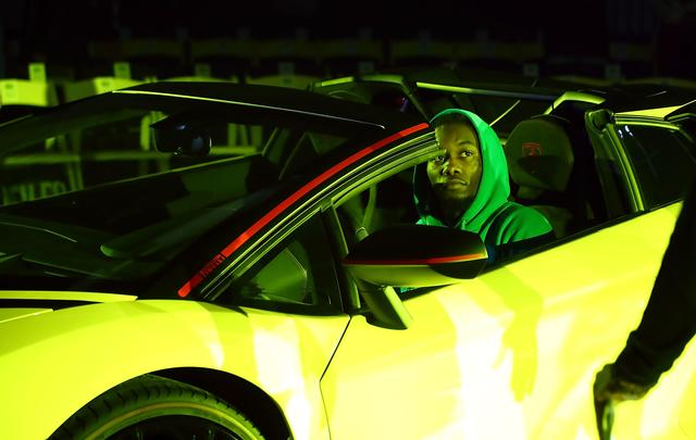 Offset in a yellow lambo