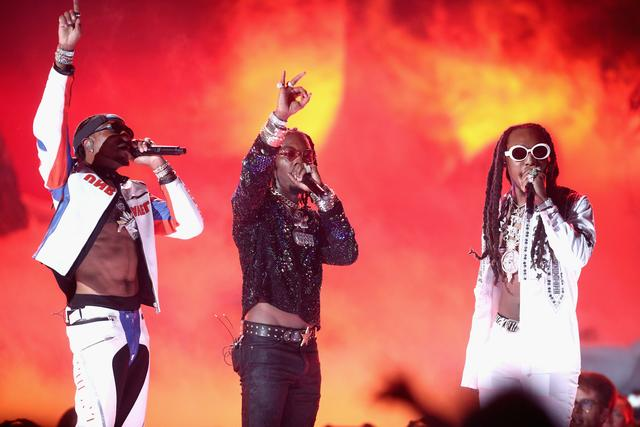 Migos on stage at 2017 BET Awards