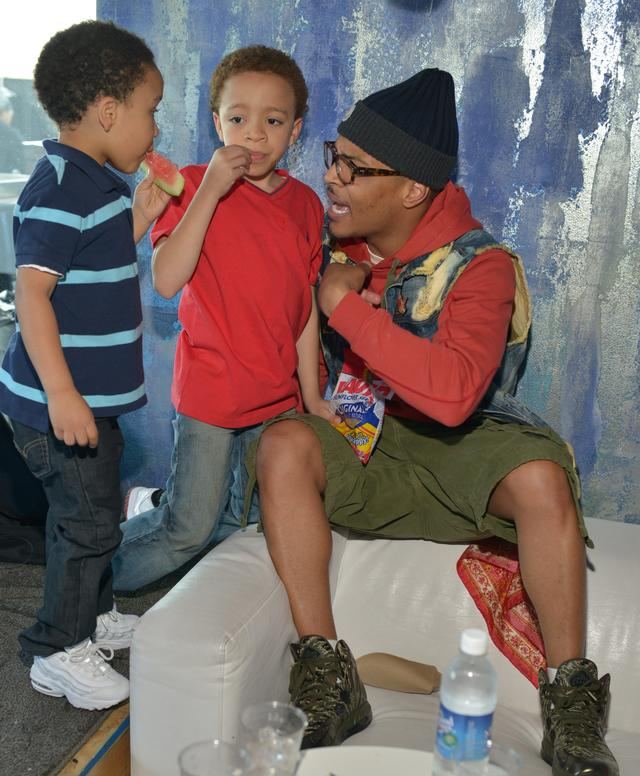 T.I. with his sons King Harris and Major Harris