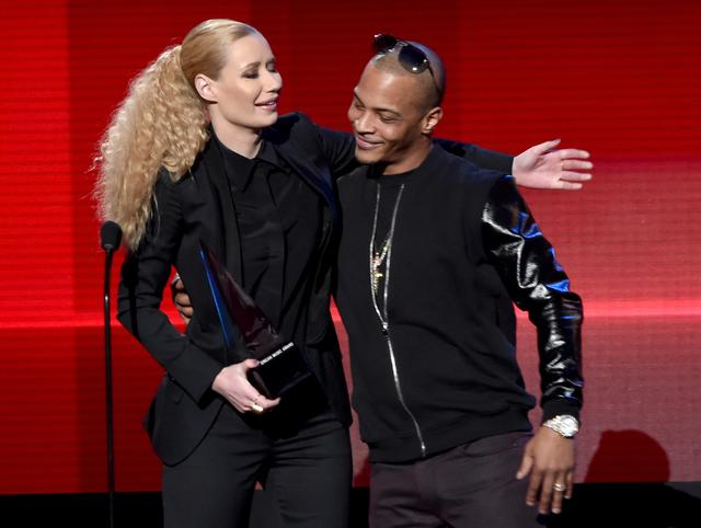 Iggy Azalea and T.I. in 2014