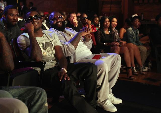 Meek Mill and Rick Ross at BET Awards 2012