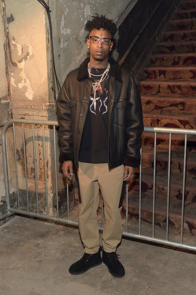 21 Savage at Alexander Wang NYFW