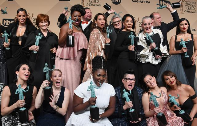 The cast of Orange is the New Black at Annual Screen Actors Guild