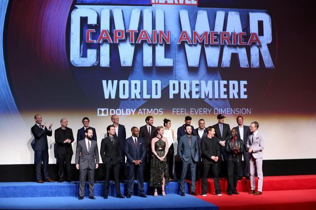 Captain America: Civil War cast at premiere