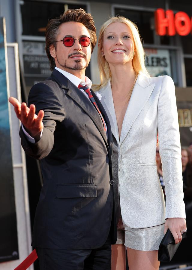 Robert Downey Jr and Gwenyth Paltrow at Iron Man 2 premiere
