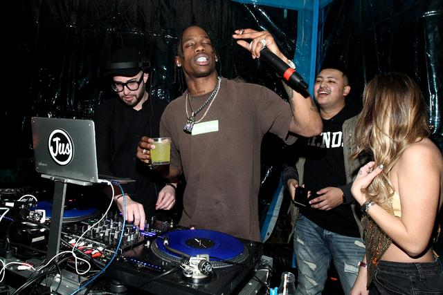 Travis Scott getting drunk