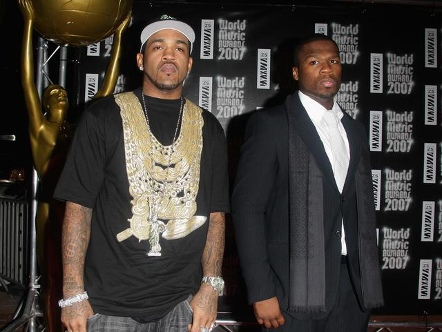 50 Cent and Lloyd Banks in 2003