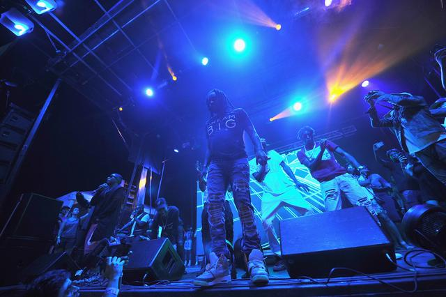 Wale performing at the Billboard Hot 100