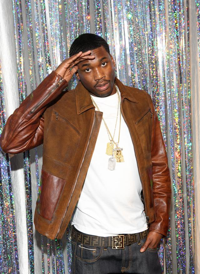 Meek Mill salutes in throwback pic