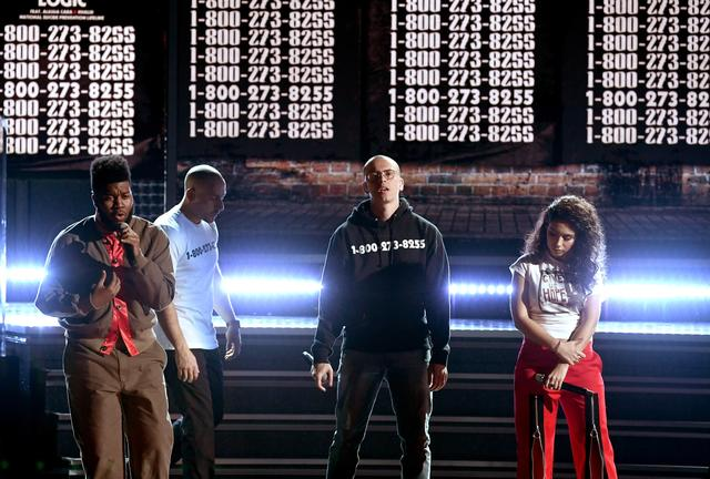Logic, Alessia Cara and Khalid perform together