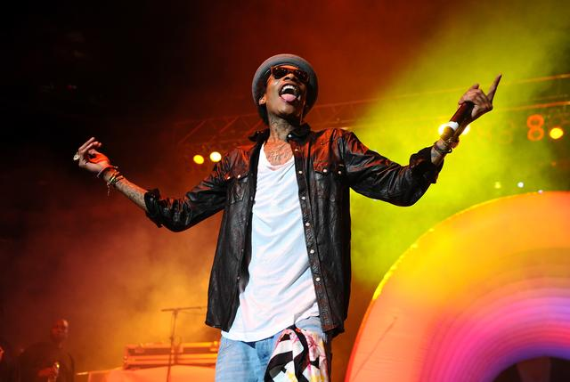 Wiz Khalifa performing in 2011