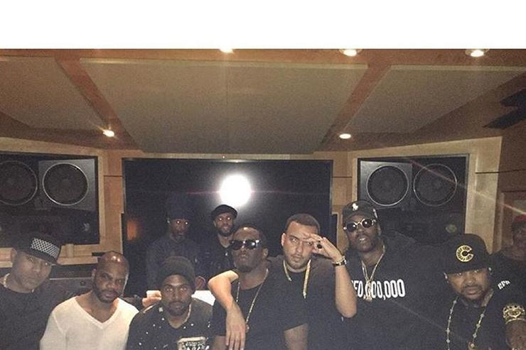 """""""Waves"""" studio session with Diddy, French Montana & Kanye West"""