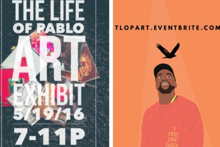 Promotional materials for the Kanye West Art Exhibit
