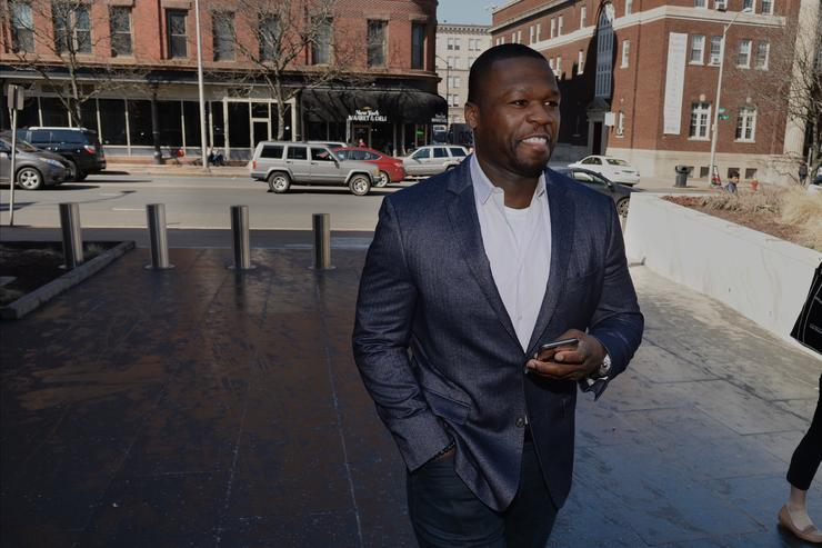 50 Cent walking into court