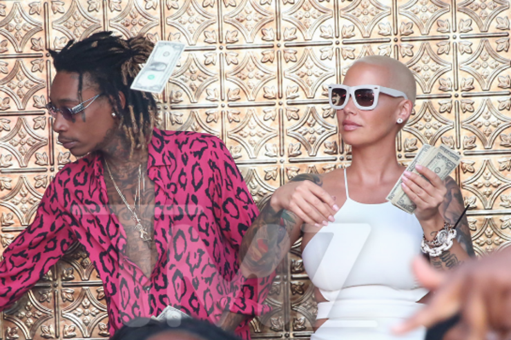 Wiz Khalifa and Amber Rose at Ace of Diamonds together
