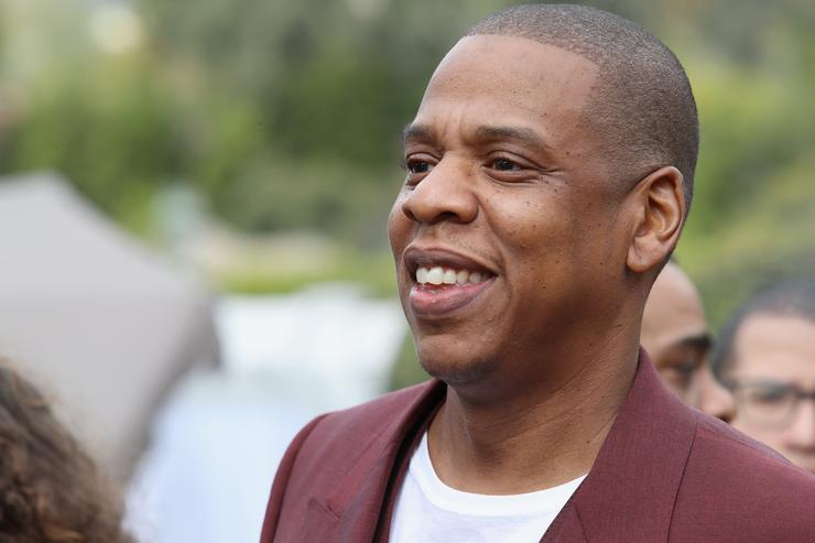 Jay Z at Roc Nation Pre-Grammy Brunch