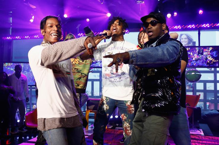 ASAP Rocky, Playboi Carti & ASAP Nast perform at MTV