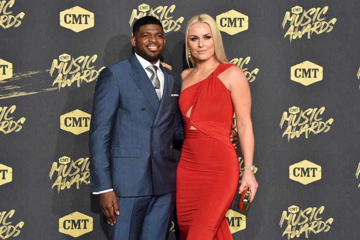 Lindsey Vonn, P.K. Subban Attend CMT Music Awards Amid Dating Rumors