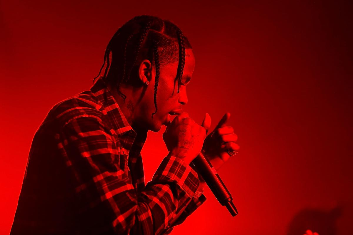 Travis Scott performs at Kailand's Swaggy 16th birthday party at Belasco Theatre on September 9, 2017 in Los Angeles, California.